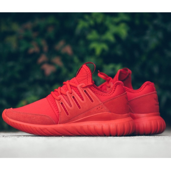 free shipping 97354 22a9b Adidas Tubular Radial Shoes in 'Triple Red'